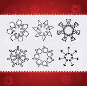 Creative christmas snowflakes