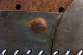 The Old Rusty Iron Parts. Texture