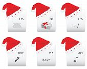 Web Document Icon With Christmas Design