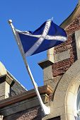 picture of braveheart  - The famous white cross on blue in Inverness - JPG