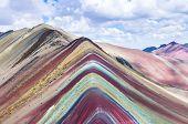 Rainbow Mountains, Cusco, Peru. Vinicunca, Peru - Rainbow Mountain 5200 M In Andes, Cordillera De Lo poster