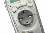 Macro Of Digital Dictaphone