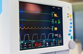 Close Up View Of Heart Monitor Measuring Vital Signs poster