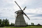 Rural Life And Rural Architecture. Windmill For Grinding Grain Into Flour poster