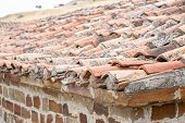 Old Red Clay Roof Tiles poster