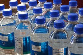 picture of bottle water  - Bottles of drinking water  - JPG