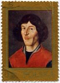 POLAND - CIRCA 1973 : Stamp printed in Poland, showing Nicolaus Copernicus, Polish and Prussian astr