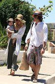 MALIBU - JUL 8: Rachel Zoe, Rodger Berman, son Skyler out for a walk on July 8, 2012 in Malibu, California