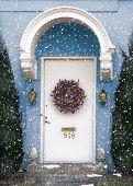 Red Wreath Door