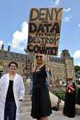 Death Of Evidence March in Ottawa, Canada