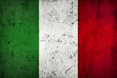 Grunge Dirty And Weathered Italian Flag