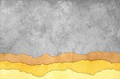 Grunge Gray Torn Paper Background
