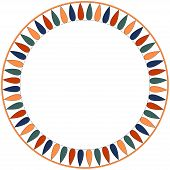 Egyptian Traditional Ornament. Round Frame With Geometric Ornament. Ancient Traditions. Vector. poster
