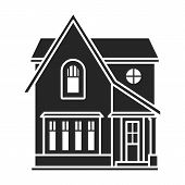 Building Of Apartment Vector Icon.black, Simple Vector Icon Isolated On White Background Building Of poster