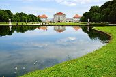 picture of munich residence  - Picturesque nature landscape with Nymphenburg Palace - JPG