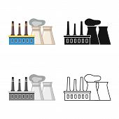 Vector Design Of Factory And Manufacture Icon. Collection Of Factory And Oil Vector Icon For Stock. poster