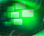 Green Mail Abstract Background