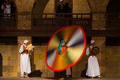 Egyptian Sufi Dancing Motion Blur Colorful