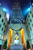 NEW YORK CITY - MAY 12: Atlas statue at Rockefeller Center May 12, 2012 in New York, NY. The statue