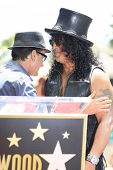 LOS ANGELES - JUL 10: Slash, Charlie Sheen at a ceremony where Slash is honored with the 2,473rd Sta