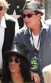 LOS ANGELES - JUL 10: Charlie Sheen, Slash at a ceremony where Slash is honored with the 2,473rd Sta