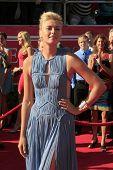 LOS ANGELES - JUL 11:  Anna Sharapova arrives at the 2012 ESPY Awards at Nokia Theater at LA Live on July 11, 2012 in Los Angeles, CA