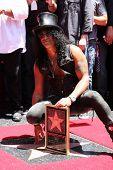 LOS ANGELES - JUL 9:  Slash at the Hollywood Walk of Fame Ceremony for Slash at Hard Rock Cafe at Hollywood & Highland on July 9, 2012 in Los Angeles, CA