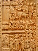 Carving On The Great Stupa At Sanchi
