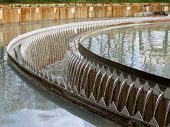 pic of wastewater  - Cleaning construction pool for sewage treatment wastewater