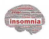Insomnia symbol isolated on white