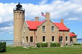 Old Mackinac Point Lighthouse In Mackinaw City Michigan