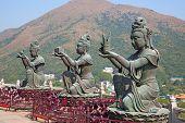 Giant Buddha complex on the Lantau island (Hong Kong)