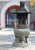 stock photo of lantau island  - Interior of the Po Lin monastery on Lantau Island  - JPG