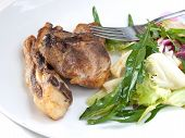Baked Lamb And Mixed Green Salad