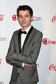 LAS VEGAS - APR 18:  Asa Butterfield in the CinemaCon Big Scrren Achievement Awards  press room at t
