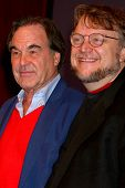 LAS VEGAS - APR 17:  Oliver Stone, Guillermo del Toro at the CinemaCon Filmmaker's Luncheon at the Caesars Palace on April 17, 2013 in Las Vegas, NV