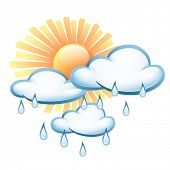 stock photo of rain cloud  - Vector symbol weather - JPG
