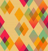 Rhombus abstract seamless pattern