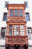 Painted facade of a historic building in the Swiss city Stein an Rhein.