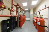 Overview of a powerful industrial fire extinguishing system.