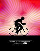 Sport road bike rider bicycle. Vector