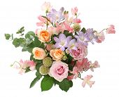 picture of sweetpea  - a bunch of flowers - JPG
