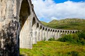 Glenfinnan Railway Viaduct on the West Highland Line in Glenfinnan, Scotland
