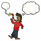 cartoon man telling lies
