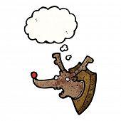 cartoon stuffed christmas reindeer head
