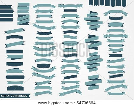 vector set of ribbons poster