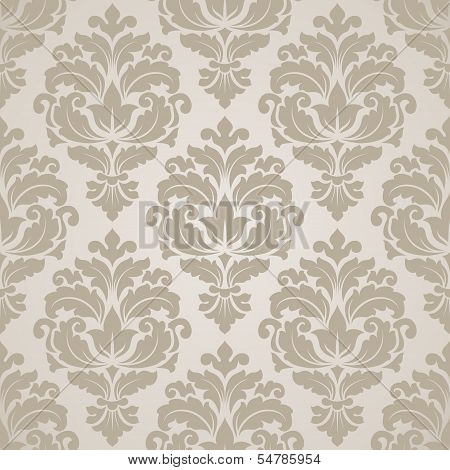 Seamless damask pattern. poster
