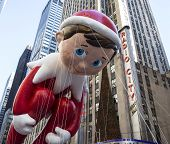 Pinocchio balloon passes Radio City Music Hall