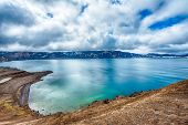 Oskjuvatn lake is the second deepest lake on the Iceland and is located in the caldera of the volcan