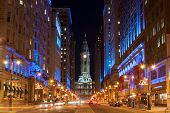 Philadelphia City Hall  By Night , Pennsylvania Usa